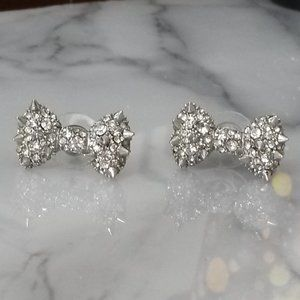 Betsey Johnson Spiked Bow Earrings